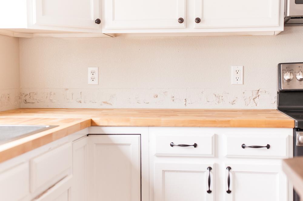 How We Installed Our Kitchen Tile Backsplash Diy Part I Spruce Bide